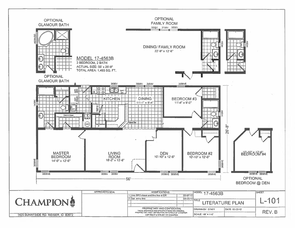 Double Wide Floorplans Mccants Mobile Homes 7 together with Fp 05 Tx Evolution SCWD76X3 also Shotgun House together with Ch ion Double Wide Mobile Home Floor Plans also Ch ion Floor Plans. on luxury single wide mobile homes